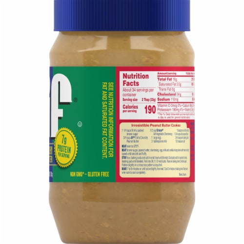Jif Extra Crunchy Peanut Butter Perspective: right