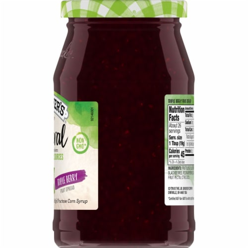 Smucker's Natural Triple Berry Fruit Spread Perspective: right