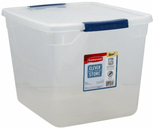 Rubbermaid Clever Store Basic Latch Storage Bin with Lid - Clear Perspective: right