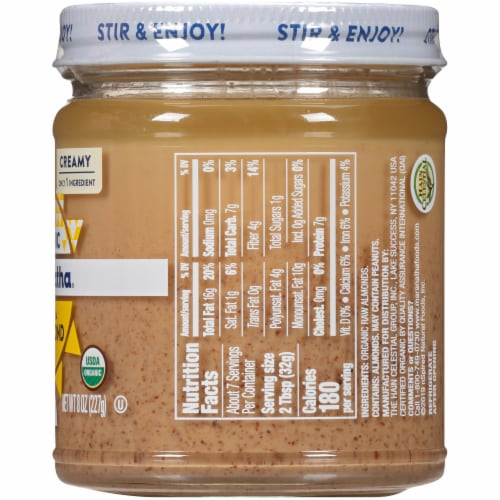 Maranatha Organic Raw Creamy Almond Butter Perspective: right