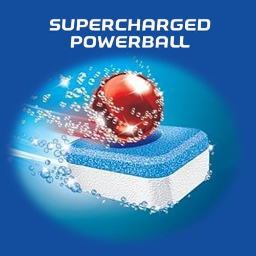 Finish Powerball Fresh Scent Dishwasher Detergent Tablets Perspective: right