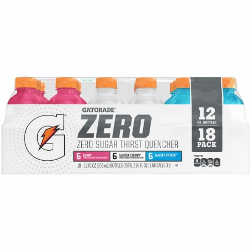 Gatorade G Zero Sugar 3-Flavor Electrolyte Enhanced Sports Drink Variety Pack Perspective: right