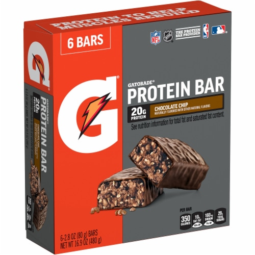 Gatorade Chocolate Chip Whey Protein Bars Perspective: right