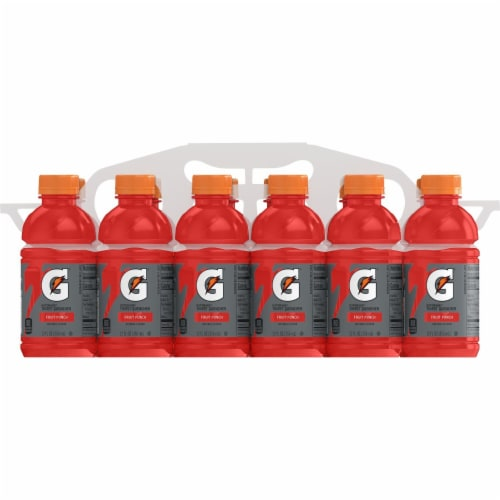 Gatorade Thirst Quencher Fruit Punch Sports Drink Perspective: right