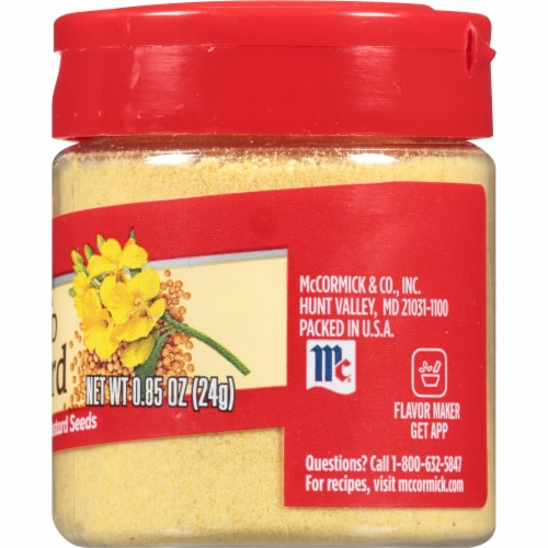 McCormick Ground Mustard Shaker Perspective: right