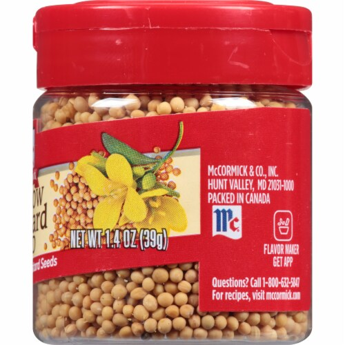 McCormick Yellow Mustard Seed Shaker Perspective: right