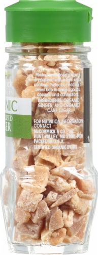 McCormick Gourmet Organic Crystallized Ginger Shaker Perspective: right