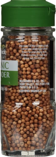 McCormick Gourmet Organic Coriander Seed Shaker Perspective: right