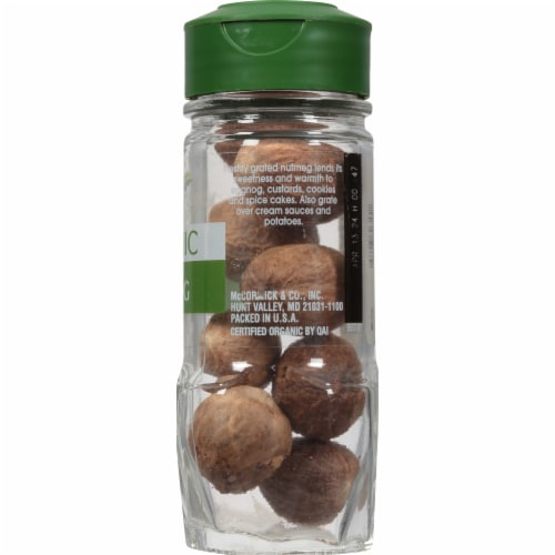 McCormick Gourmet Organic Whole Nutmeg Perspective: right