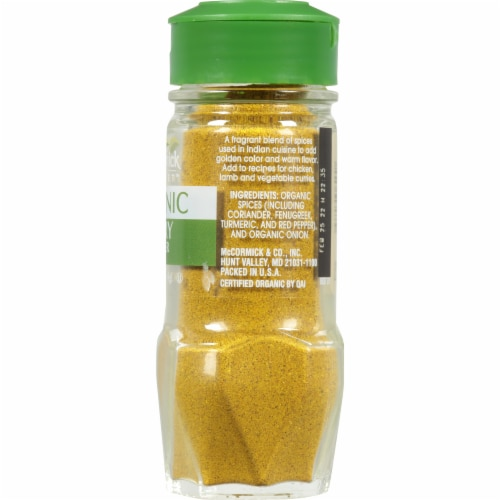 McCormick Gourmet Organic Curry Powder Perspective: right