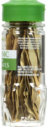 McCormick Gourmet Organic Turkish Bay Leaves Shaker Perspective: right