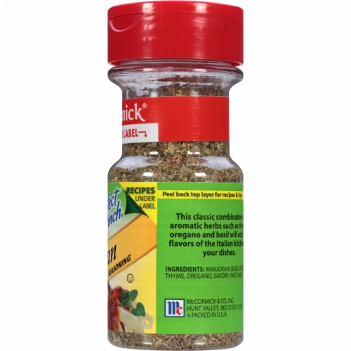 McCormick Perfect Pinch Italian Seasoning Shaker Perspective: right