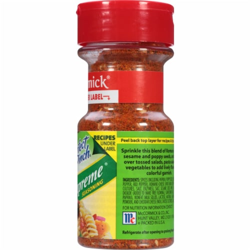 McCormick Perfect Pinch Salad Supreme Seasoning Shaker Perspective: right
