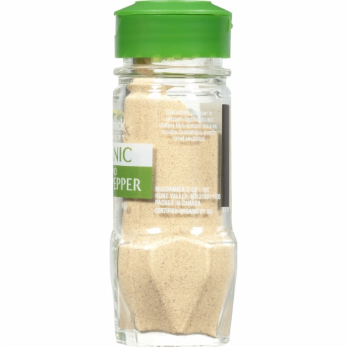 McCormick Gourmet Organic Ground White Pepper Perspective: right