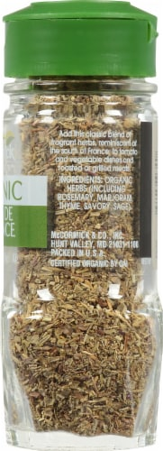 McCormick Gourmet Organic Herbes De Provence Perspective: right