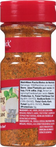 McCormick Total Seasoning for Beef Perspective: right