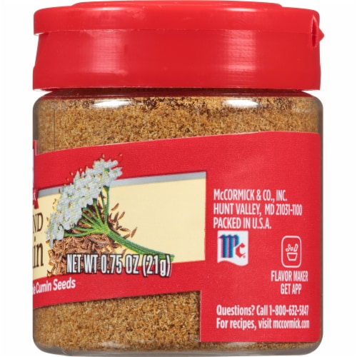 McCormick Ground Cumin Shaker Perspective: right