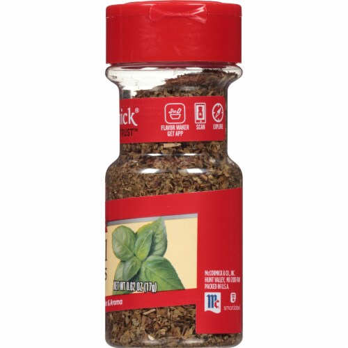 McCormick Basil Leaves Shaker Perspective: right