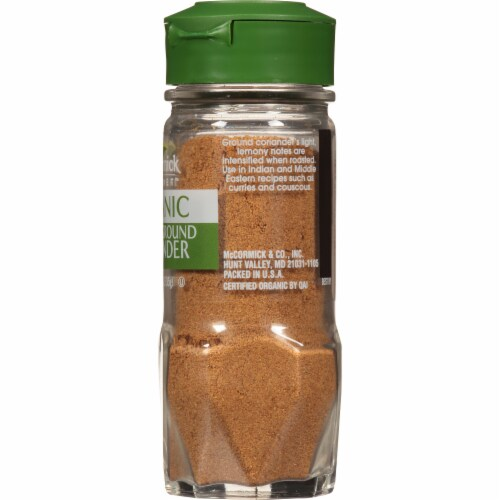 McCormick Gourmet All Natural Roasted Ground Coriander Shaker Perspective: right