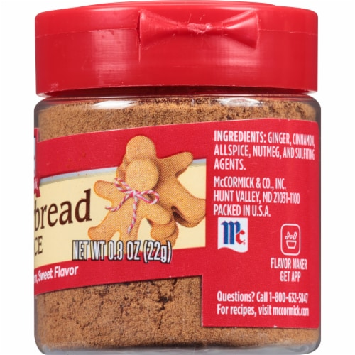 McCormick Gingerbread Spice Shaker Perspective: right