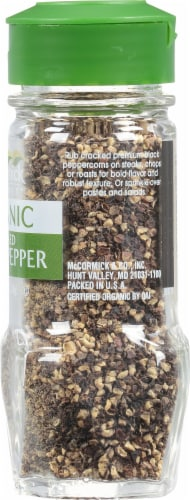 McCormick Gourmet Organic Cracked Black Pepper Perspective: right