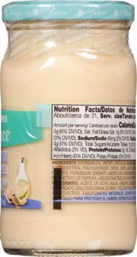 McCormick Balance Mayonnaise Dressing with Soybean Oil Perspective: right