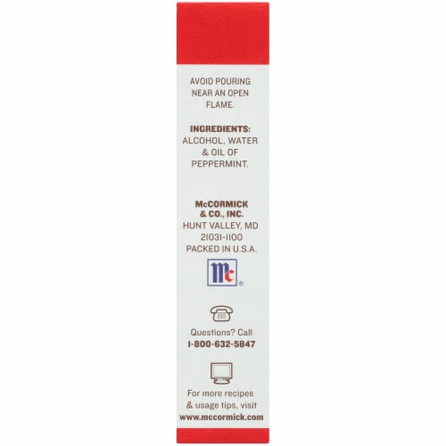 McCormick Pure Peppermint Extract Perspective: right