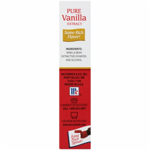 McCormick All Natural Pure Vanilla Extract Perspective: right