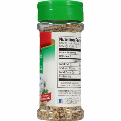 McCormick California Style Coarse Grind Blend Garlic Pepper Shaker Perspective: right