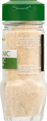 McCormick Gourmet Organic Garlic Powder Perspective: right