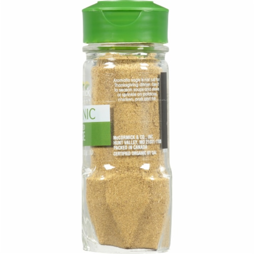 McCormick Gourmet Organic Rubbed Sage Shaker Perspective: right