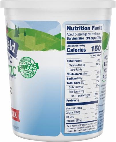 Stonyfield Organic Vanilla Probiotic Whole Milk Yogurt Perspective: right