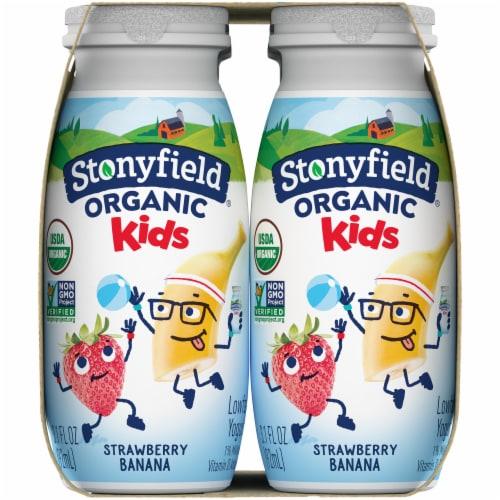 Stonyfield Organic Kids Strawbana Yogurt Smoothie Perspective: right