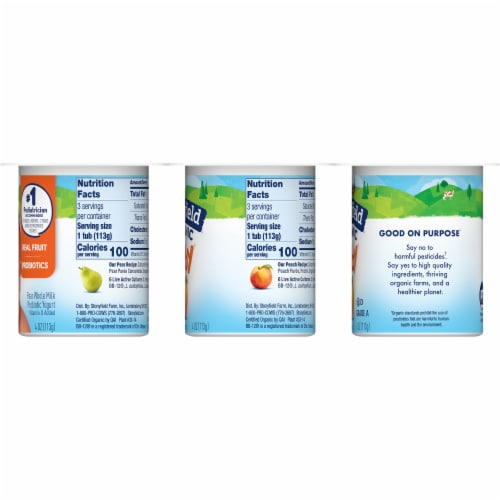 Stonyfield Organic YoBaby Peach & Pear Whole Milk Yogurt Perspective: right