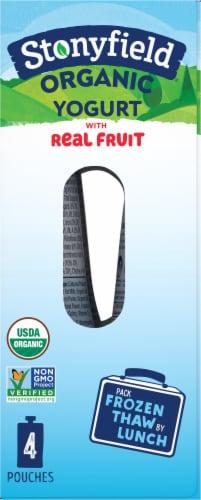 Stonyfield Organic Kids Lowfat Strawberry Banana Yogurt Pouches Perspective: right