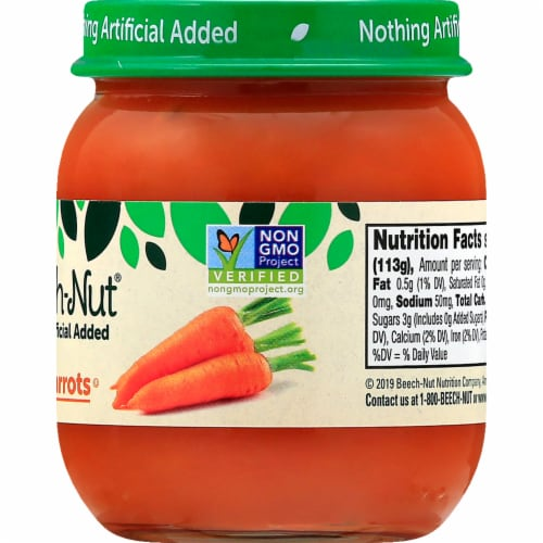 Beech-Nut Stage 2 Sweet Carrots Baby Food Jar Perspective: right