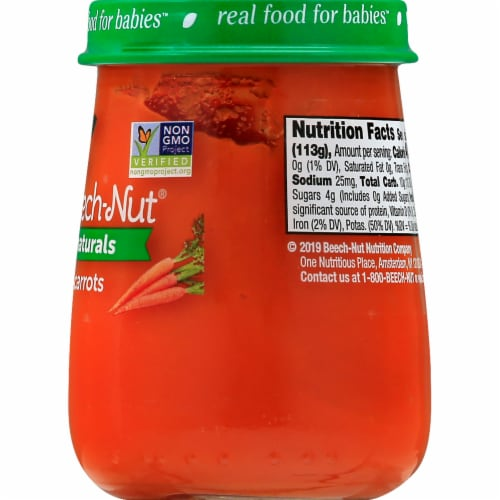 Beech-Nut Naturals Carrots Stage 1 Baby Food Perspective: right