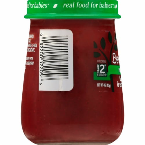 Beech-Nut Naturals Stage 2 Beet Pear & Pomegranate Baby Food Jar Perspective: right