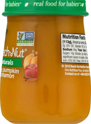 Beech-Nut Naturals Apple Pumpkin & Cinnamon Stage 2 Baby Food Perspective: right