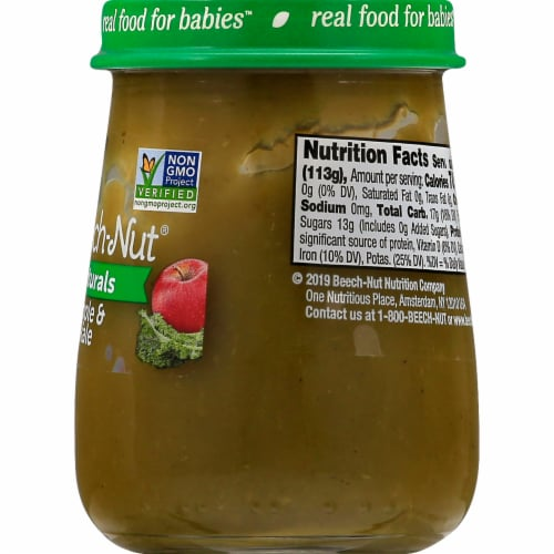 Beech-Nut Naturals Apple & Kale Stage 2 Baby Food Perspective: right