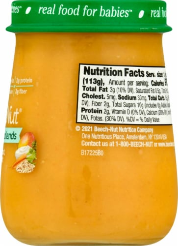 Beech-Nut® Naturals Superblends Stage 3 Mango Carrot Yogurt & Oat Baby Food Perspective: right