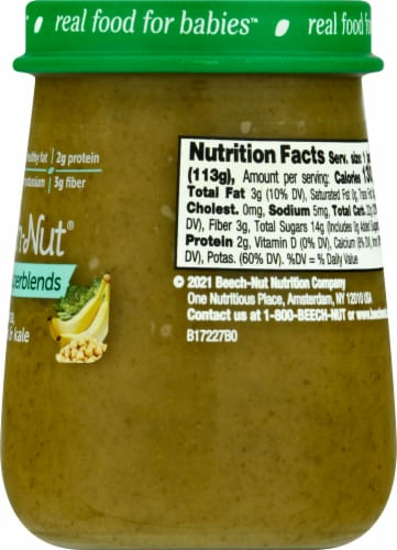 Beech-Nut® Naturals Superblends Stage 3 Banana Chickpea & Kale Baby Food Perspective: right