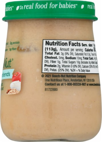 Beech-Nut Naturals Superblends Apple Cinnamon Yogurt & Oat Stage 3 Baby Food Perspective: right