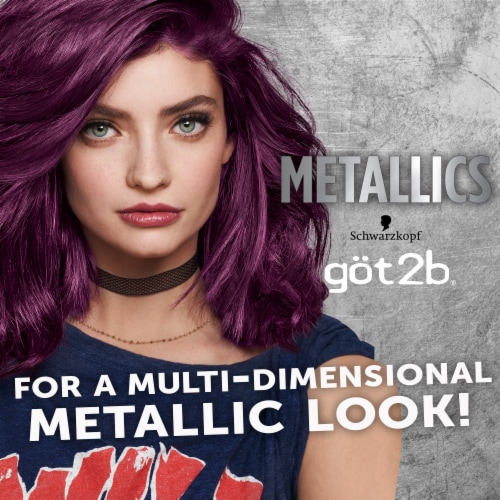 Got2b Metallics Amethyst Chrome Permanent Hair Color Perspective: right