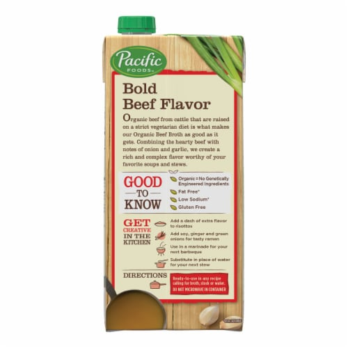 Pacific Organic Low Sodium Beef Broth Perspective: right