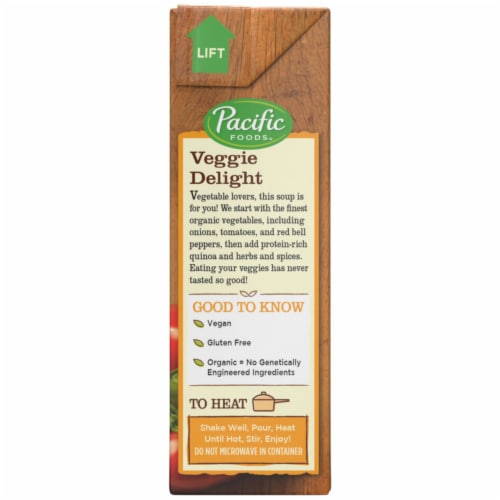 Pacific Foods Organic Vegetable Quinoa Soup Perspective: right