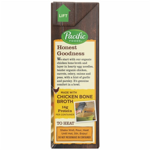 Pacific Foods Organic Chicken Noodle Soup with Chicken Bone Broth Perspective: right