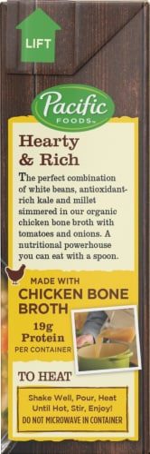 Pacific Organic White Bean Kale And Millet Soup with Chicken Bone Broth Perspective: right