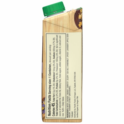 Pacific Foods Organic Bone Broth Chicken with Chamomile & Lavender Perspective: right