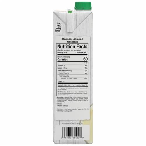 Pacific Organic Almond Milk Perspective: right